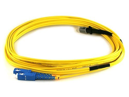 Monoprice 105207 3-Meters MTRJ/SC Single Mode Duplex Fiber Optic Cable - Yellow - Mtrj Mtrj Single