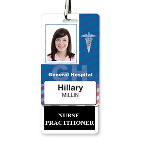 NURSE PRACTITIONER Vertical Badge Buddy BB-NURSEPRACTITIONER-BLACK-V