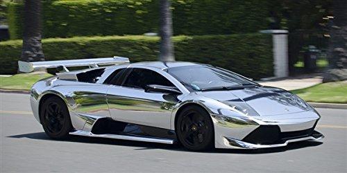 Amazon Com Lamborghini Murcielago Sv Chrome Right Front Hd Poster