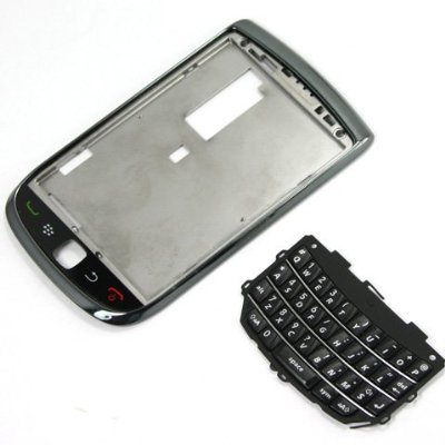 Original Genuine OEM BlackBerry Torch 9800 Front Slider Housing Faceplate Fascia Plate Panel Cover Case Repair Replace Replacement+Keyboard Keypad Key Keys Button Buttons Cover Repair Replace Replacement - Cover Housing Faceplate Keypad