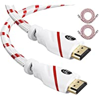 HDMI 25ft 4k Cable - 2 Pack - 25 feet of HDMI to HDMI- Supports High Speed Ethernet UHD HDR FullHD 18Gbps 4K@60hz, 2160p - Audio Return Channel - 25 Feet HDMI Cord