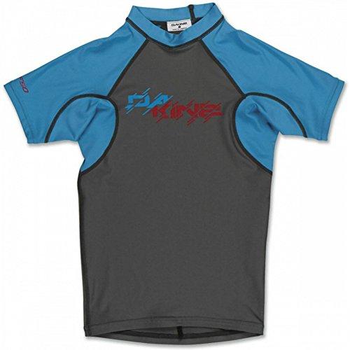 Dakine Kid's Heavy Duty Snug Fit Short Sleeve Rashguard T-Shirt, Gunmetal, 8 by Dakine