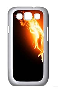 Fire Woman Custom Hard Back Case Samsung Galaxy S3 SIII I9300 Case Cover - Polycarbonate - White