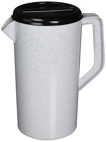 TableCraft 144GRT Plastic 2.5 Quart Pitcher with Black Sanitary Lid
