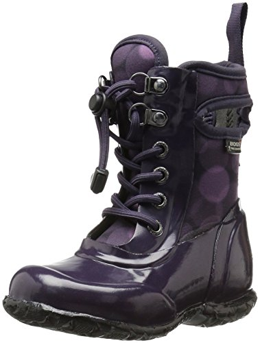 Picture of Bogs Sidney Kids Waterproof Lace Up Rain Boot for Boys and Girls, Eggplant/Multi, 9 M US Toddler