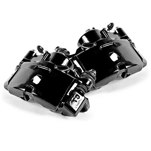 CK01047 [ 2 ] FRONT Performance Grade Black Powder Coated Semi-Loaded Caliper Assembly Pair