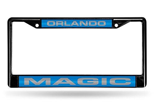 Rico Industries NBA Orlando Magic Laser Cut Inlaid Standard Chrome License Plate Frame, 6