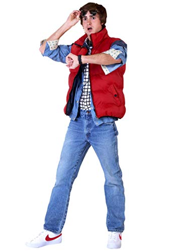 Back to The Future Marty McFly Costume Medium Red -