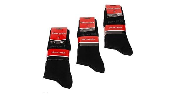 6 pares Pierre Cardin hombre calcetines/Talla: 9,5 - 13 UE: 39 - 46 algodón calcetines, hombre, negro, UK: 9.5 - 11 / EU: 39 - 42: Amazon.es: Deportes y ...