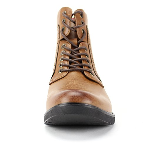 6718 Tan Casual 4 Boots Lightweight Boots Style 718 Comfortable 3 Fashion and BfU7pxwWq