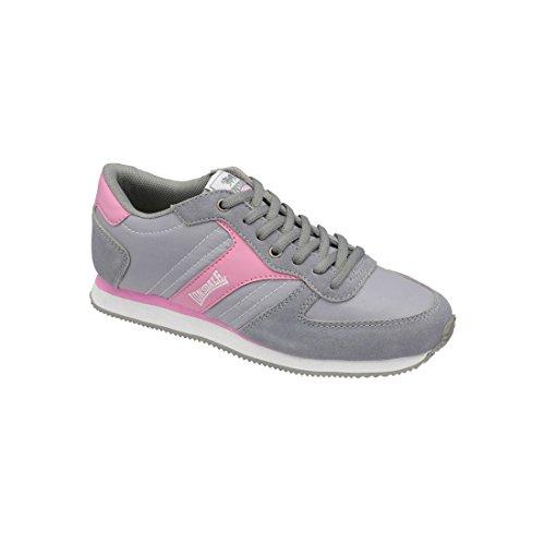 Lonsdale - Zapatillas deportivas modelo Coniston Casual para mujer Gris/Rosa