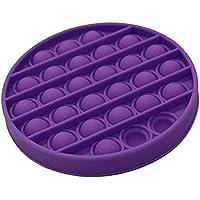 Pop it Bubble Sensory Fidget Toy Autism Stress Relief Silent Classroom Special Needs Stress Reliever - Purple