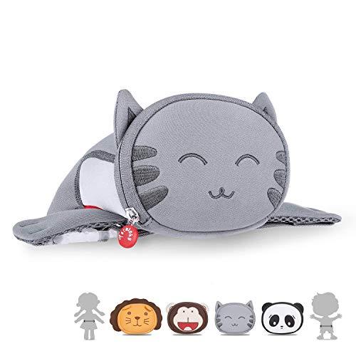 Kids Travel Waist Purse, Termichy Cute 3D Cartoon Cat Animal Fanny Pack Bag For Babies Girls Toddler Children Sport Running Camping Trip Makeup Masquerade -