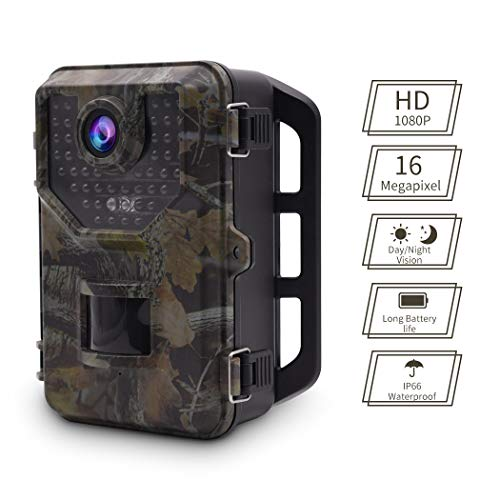Accfly Trail Camera,16MP Hunting Camera 1080P HD Motion Activated Wildlife Trail Cam with Night Vision,40pcs IR LEDs and 2.4'' LCD Display IP66 Waterproof Game Trail Camera
