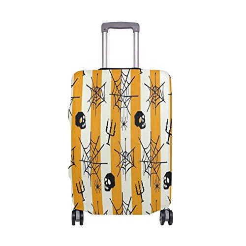Suitcase Cover Suitcase Halloween Spider Web Skull Seamless Pattern Luggage Cover Travel Case Bag Protector for Kid Girls Luggage Cover Travel Case Bag Protector for Kid Girls 26