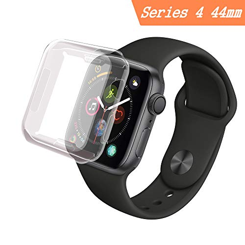 for Apple Watch Series 4 44mm Case, Smilelane iwatch Screen Protector All-Around 0.3mm Ultra-Thin Soft Transparent Cover for Apple Watch Series 4 44mm