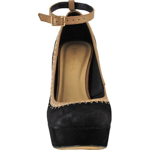 Bruno Hombresegatti 10155722 Mujeres Nubuck Leather Platform Pump Black
