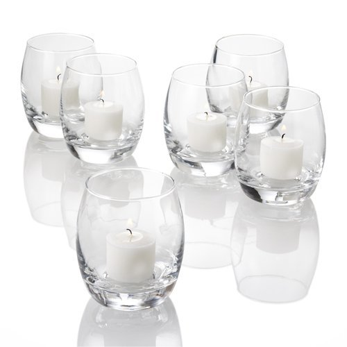 Eastland® Grande Hurricane Votive Holders Clear Set of 72 Quick Candles 1170_72