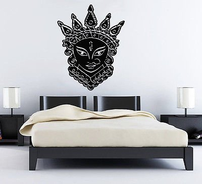 Amazon.com: Wall Decals India Man Cat Crown Yoga Namast Decal Vinyl ...
