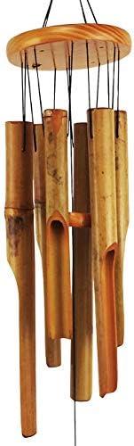 "New Burnt Flower Bamboo Windchime 37/"" Beautiful Sound"