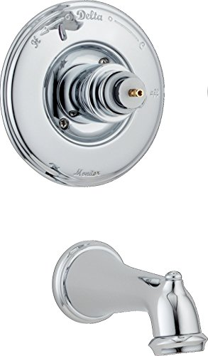 Delta T14155-LHP Victorian Monitor 14 Series Bathtub Trim without Handle, Chrome