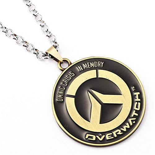 YPT Pendant Necklaces - Hot top Selling ow Game Peripheral Accessories Jewelry Overwatch New Badge Necklace Pendant 1 PCs (Smart Hot Selling 10 New X)