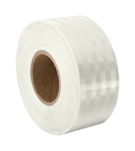 3M 3430 White Micro Prismatic Sheeting Reflective Tape - 0.5 in. X 15 ft. Non Metalized Adhesive Tape Roll. Safety Tape (Prismatic Pack)