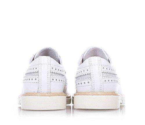 NERO GIARDINI - Chaussure blanche à lacets en cuir, fille, filles