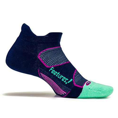 Feetures! Elite Max Cushion No Show Tab Athletic Running Socks for Men and Women