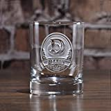 Custom Whiskey, Scotch, Bourbon, Double Old Fashioned Glasses SET OF 2 (M8)