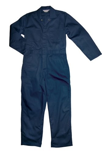 Walls Work Men's Long Sleeve Non-Insulated Mechanic Coverall, Navy, Large/Regular -