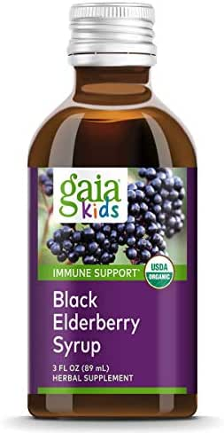 Vitamins & Supplements: Gaia Kids Black Elderberry Syrup