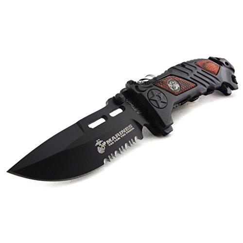 Marines Iron Mike Folding Knife (5.25-Inch Closed) by Marines
