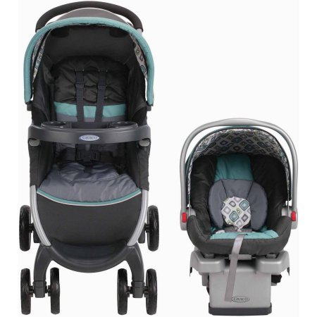 Graco FastAction Fold Click Connect Travel System, Car Se...