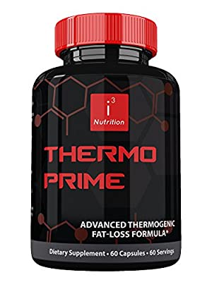 Thermo Prime by i3 Nutrition ? Best Thermogenic Fat Burner Supplement ? Rapid Weight Loss ? Enhanced Mental Clarity ? Nootropic Advanced Focus ? Fat Loss Formulation for Men & Women ? 60 Count