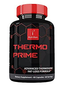 Thermo Prime by i3 Nutrition ● Best Thermogenic Fat Burner Supplement ● Rapid Weight Loss ● Enhanced Mental Clarity ● Nootropic Advanced Focus ● Fat Loss Formulation for Men & Women ● 60 Count