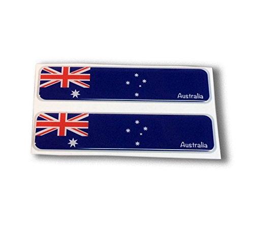 Australia Flag Proud Domed Decal Car Emblem Flexible 3D 4
