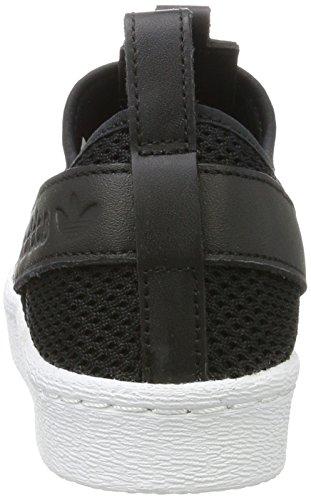 adidas Superstar Slipon W, Zapatillas de Baloncesto para Mujer Negro ((Negbas/Negbas/Ftwbla))