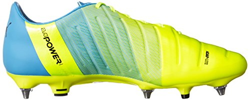 Puma Evopower 1.3 Mixed Sg - Botas de fútbol Hombre Amarillo - Gelb (safety yellow-black-atomic blue 01)