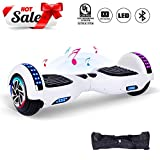 CBD 6.5' Hoverboard for Kids, Two Wheels Self-Balancing Electric Scooter with Bluetooth and LED Lights,Smart Hover Board - UL2272 Certified (Ultimate Series - White)