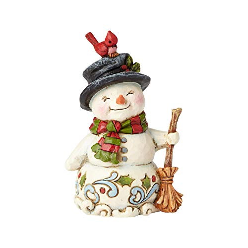 Enesco Jim Shore Heartwood Creek Mini Snowman with Broom