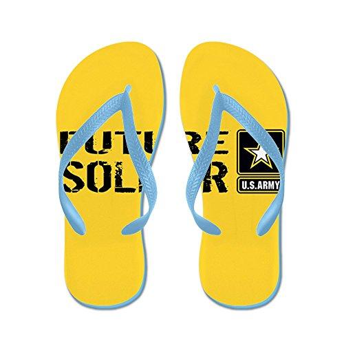 CafePress U.S. Army: Future Soldier (Gold) - Flip Flops, Funny Thong Sandals, Beach Sandals Caribbean Blue