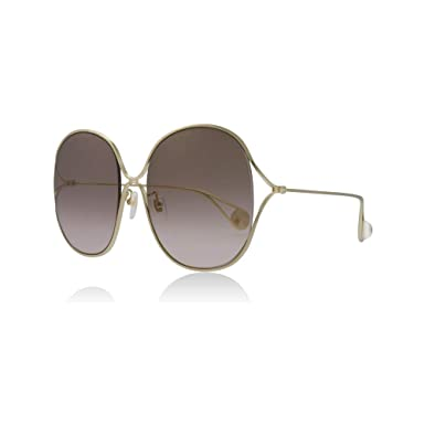18d6b5d800406 Image Unavailable. Image not available for. Color  Gucci GG0362S 002 Gold  GG0362S Square Sunglasses ...