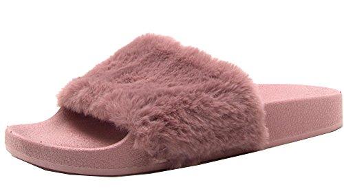 Faux Women's Mauve Fur 01 Slipper Qupid Booboo wZ80qgA