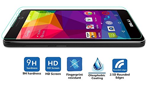 IVSO BLU Studio C HD Screen Protector -Ultra-thin 9H Hardness 2.5D Round Edge Highest Quality HD clear& Anti-Scratch/ Shatterproof/ Anti-Fingerprint/ Water Premium Tempered Glass Screen Protector (1pcs) Photo #2