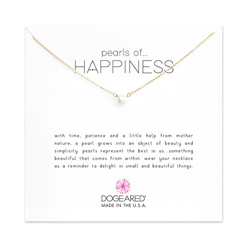 Dogeared Gold Filled Pearls of Happiness Freshwater Cultured 16'' Boxed Necklace by Dogeared
