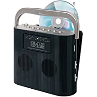 Black Jensen CD-470BK Portable Boombox CD Player AM/FM Radio W/ Aux-in Electronic Accessories