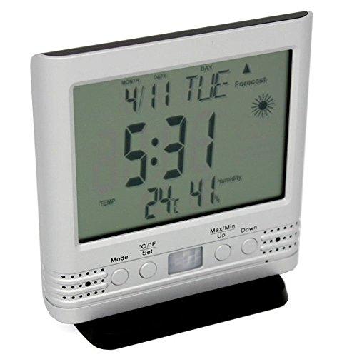 Lawmate 1080P HD Reloj Estación meteorológica Termómetro Cubierta Cámara PV-TM10FHD con Tarjeta Micro SD DE 32 GB