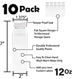 12 oz Empty Juice Bottles Reusable Clear Plastic