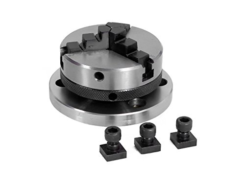 65 mm- 3 Jaws Self Centering Chuck with Back Plate & T-nuts for - Plain 3 Back Jaw